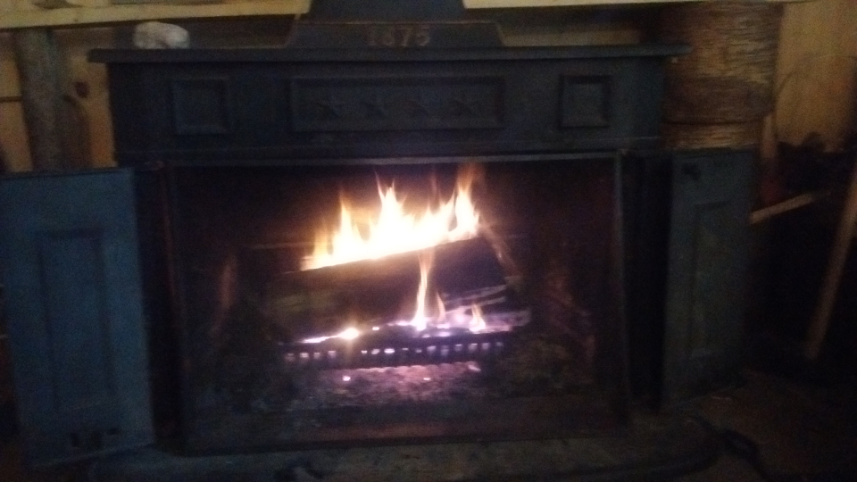 A fire in our Franklin Stove